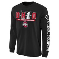Ohio State Buckeyes Black 2014 College Football Playoff National Champions OH1O Long Sleeve T-Shirt