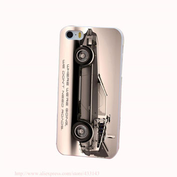 Delorean Back To The Future Hard White Cover Case for iPhone 4 4s 5 5s 5c 6 6s Protect Phone Cases 80's