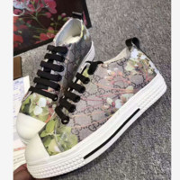 """GUCCI"" Fashion Flats Sneakers Sport Shoes Print Green grass"