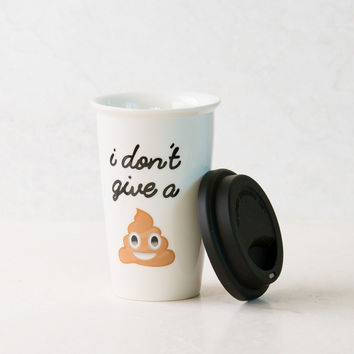 Poop White Coffee Tumbler