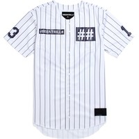 Been Trill Pinstripe Baseball Jersey - Mens Tee - White