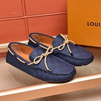 Ready Stock Lv Louis Vuitton Men's Leather Fashion Sneakers Shoes #962