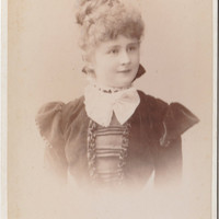 Cabinet Card Portrait, young sweet girl 1899 Vintage photo