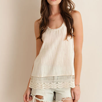 Textured Tank Top - Natural