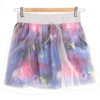 Mesh Cover Galaxy Skater Skirt