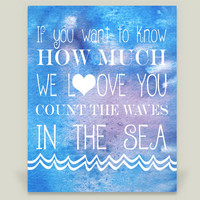 Count the waves water color Art Print by KBlantonGraphics on BoomBoomPrints