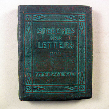 Vintage Miniature Book Speeches Letters Of Washington