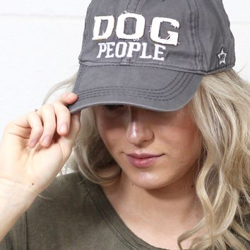 Dog People Distressed Cap {Grey}