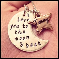 I Love You To The Moon and Back - Sterling Silver and Copper