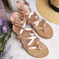 blowfish - women's bungalow wedge sandal - rose gold