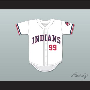 Ricky Vaughn 99 White Baseball Jersey Major League