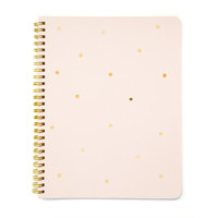Gold Dot Notebook, Pink