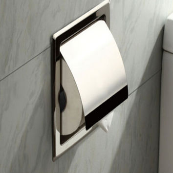 Shipping Polished Chrome Stainless Steel Bathroom Toilet Paper Holder Tissue Box Holder