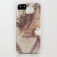 Everything Has Changed - Taylor Swift Lyric iPhone Case by losinghimwasblue | Society6