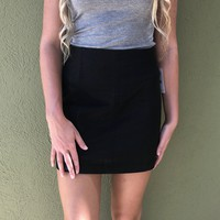 Leather Modern Femme Skirt - Black