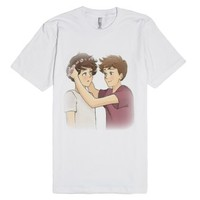 larry stylinson-Unisex White T-Shirt