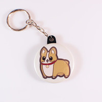 Ein the Corgi Button Keychain