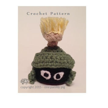 Marvin the Martian Inspired eos Lip Balm Holder - PDF CROCHET PATTERN