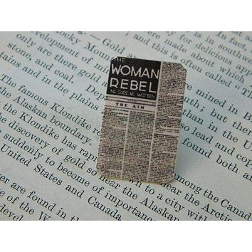 The Woman Rebel Lapel Pin