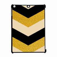 Chevron Classy Black And Gold Printed iPad Air Case