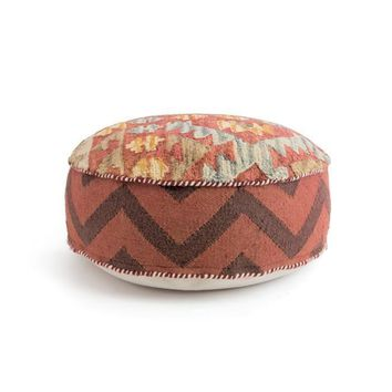 Hanson Pouf Wool Kilim Cotton
