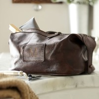 Saddle Leather Toiletry Case, Chocolate
