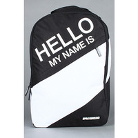 Sprayground DLX010 Hello My Is Deluxe Laptop Backpack