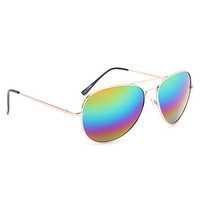 With Love From CA Rainbow Lens Aviator Sunglasses at PacSun.com