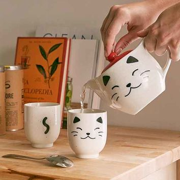 White Cat Tea Set
