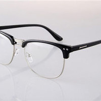 New Men Women Half Rimless Myopia Glasses Eyeglass Spectacles Frames Optical Rx