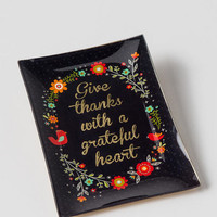 Give Thanks Large Glass Tray