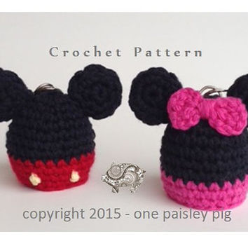 Mickey & Minnie eos Lip Balm Holder - PDF CROCHET PATTERN