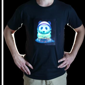 Space Panda Animated LED T-Shirt