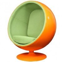 Kaddur Lounge Chair in Orange Green