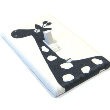 Navy Blue Giraffe Light Switch Cover Giraffe Nursery Decor Navy Blue Nursery Decor Switchplate Switch Plate 1478