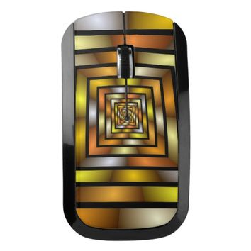 Luminous Tunnel Colorful Graphic Fractal Pattern Wireless Mouse