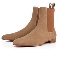Roadie Flat Camel Suede - Men Shoes - Christian Louboutin