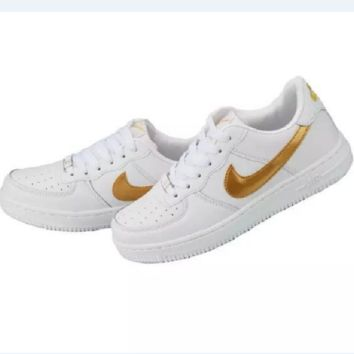 """NIKE"" Trending Fashion Casual Sports Shoes Golden"