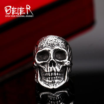 Stainless Steel High Quality Fang Skull Ring For Man Titanium Steel Boy's Punk Ring