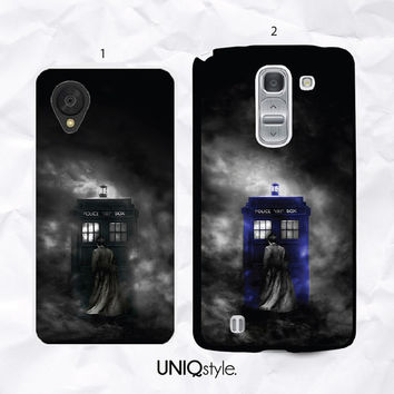 TARDIS Doctor Who phone case for lg g2, g2 mini, g3, nexus 4, nexus 5, L70, l90 - Dr who police box phone cover for LG - N10