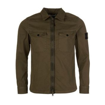 Stone Island Green Zipped Overshirt