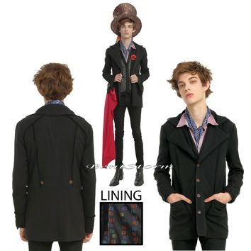 Licensed cool Disney The Mad Hatter Alice Through the Looking Glass Costume Black Jacket M XL