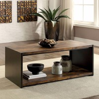 Matte Black Coffee Table By Furniture Of America
