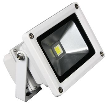 Lunasea Outdoor LED Flood Light - 12V-10W-900 Lumens - Cool White [LLB-355C-01-10]