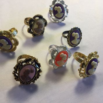 Vintage Cameo Rings/Free Shipping