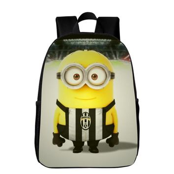 Hot Sale Oxford 16 Inches Printing Minions Cartoon Black Student Bookbag Kids Baby School Bags for Women Backpack Ladies Bookbag