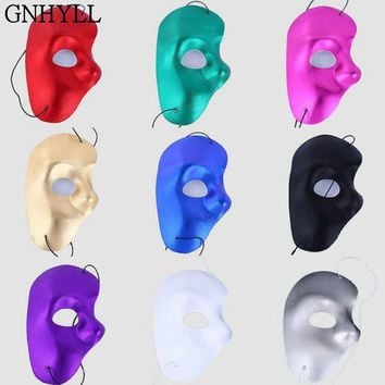 GNHYLL Phantom of the opera Masquerade Party Eye Theatrical HALF FACE Mask halloween mask cosplay