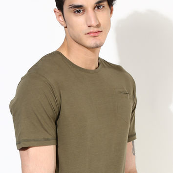Slim Fit Pocket T-Shirt: Olive