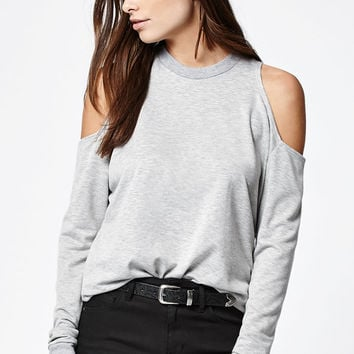 LA Hearts Cold Shoulder Crew Neck Sweatshirt at PacSun.com