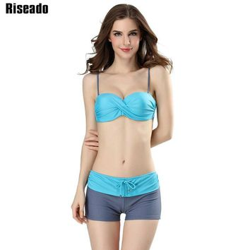 Bikini Set Swimwear Women Bandeau Push Up Swimsuit Female Strap Halter Beachwear Bathing Suits